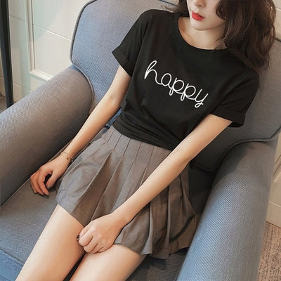 'Happy' Printed Tee