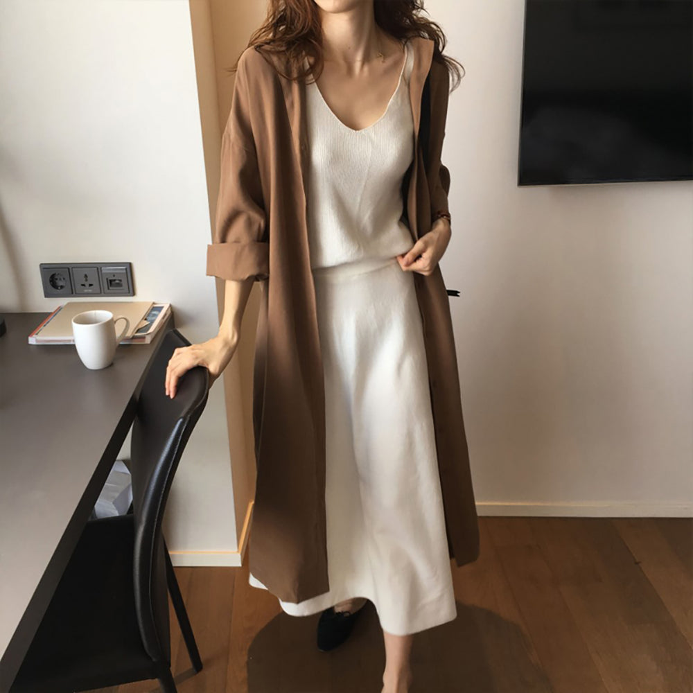 Brown Thin Trench Coat