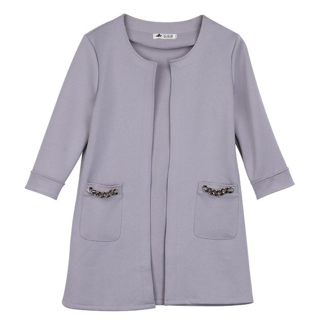 Gray Candy Pocket Detail Jacket