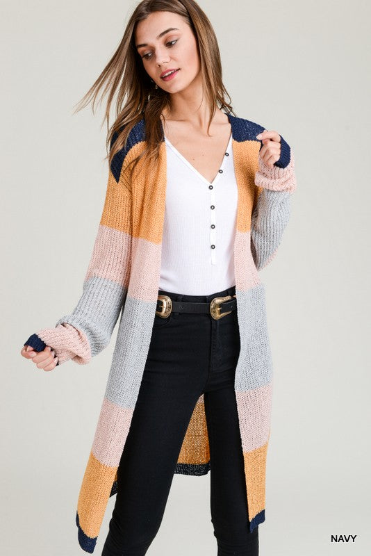 Colorful Cutie Cardigan Navy
