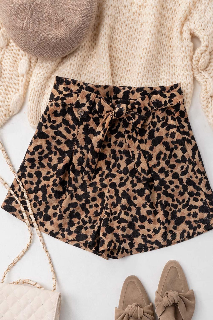 It's About Time Leopard Print Shorts