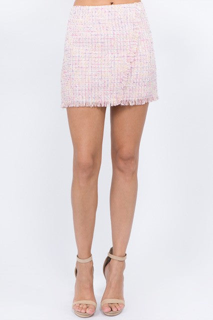 The Paige Tweed Mini Skirt