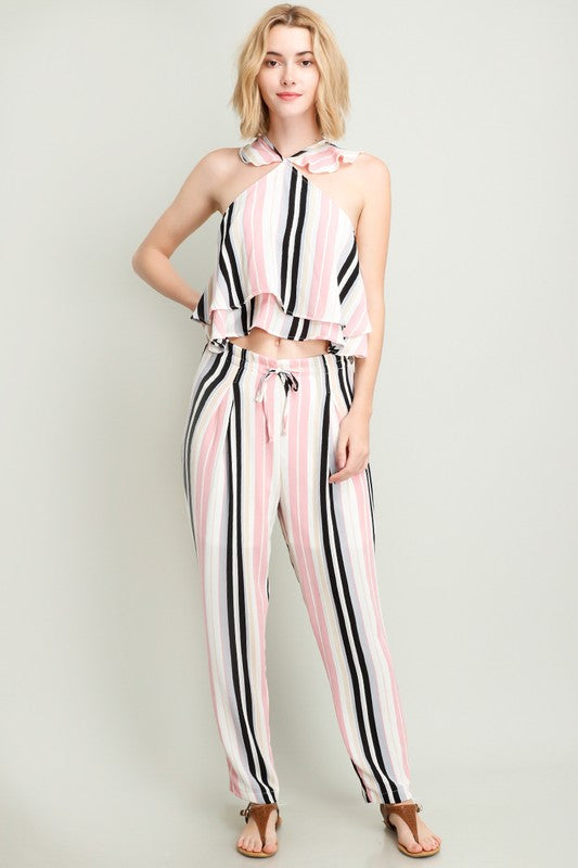Sugar Stripes Set Pink