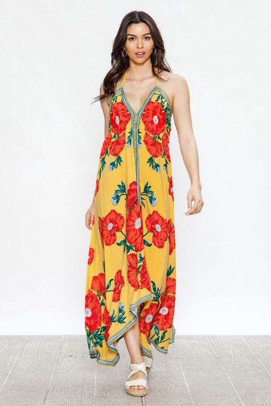 Las Palmas Yellow Maxi Dress