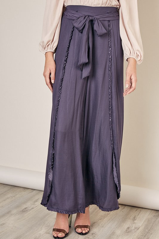 Dusk to Dawn Palazzo Pants in Midnight Blue
