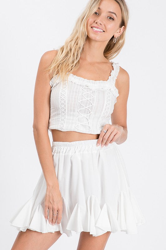 Kaylee Mini Skirt White