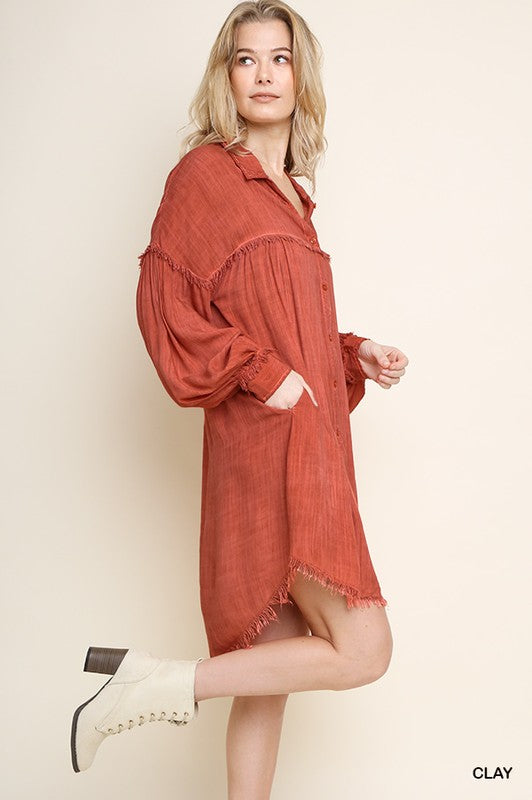 The Perfect Little Throw On Dress Off-Red