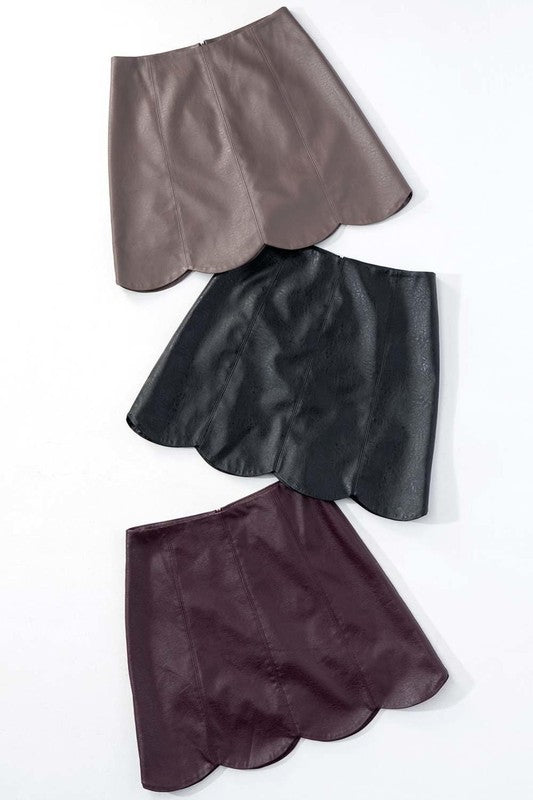 Leather Lover Mini Skirt Grey