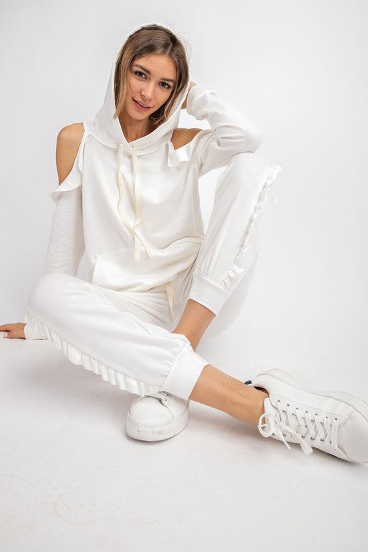 French Terry Sweatpants Ivory