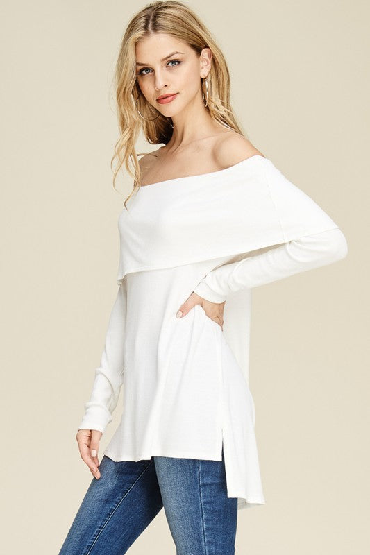 Cozy Off-the-Shoulder Tunic