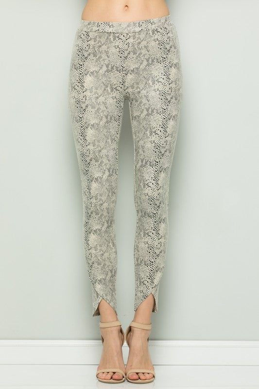 Catwalk Faux Suede Leggings Snakeskin