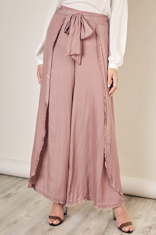 Dusk to Dawn Palazzo Pants in Dusty Mauve