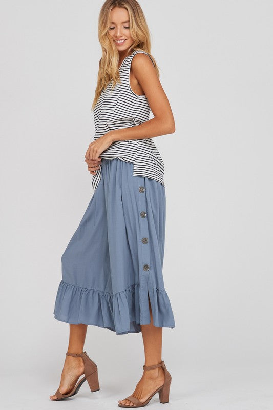 A Walk On the Beach Pants Blue