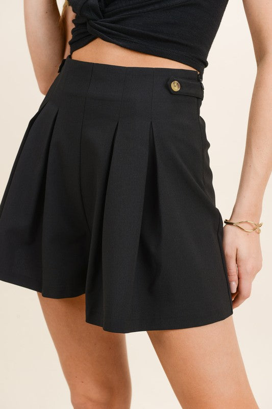 Perfectly Pleated Shorts