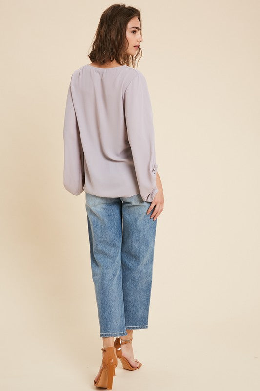 The Irreplaceable Blouse in Lavender
