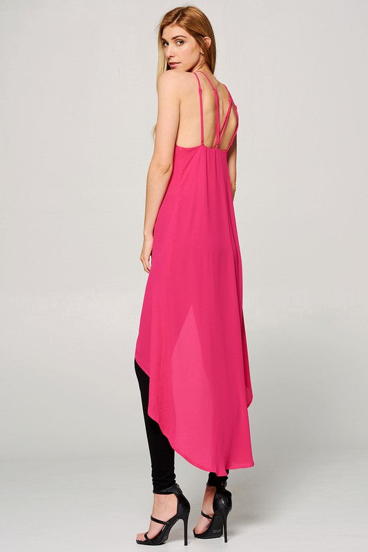 The Avery Top in Fuchsia
