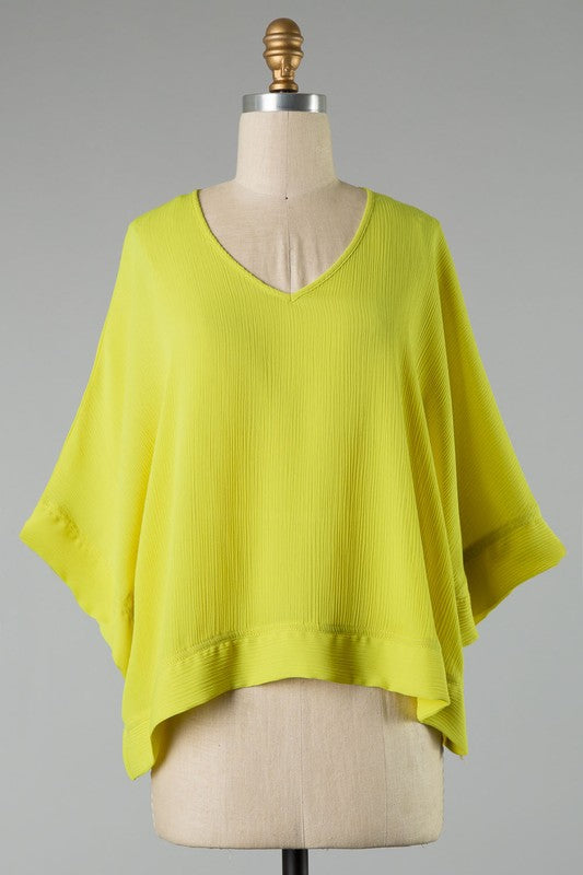 Make It Happen Blouse in Chartreuse