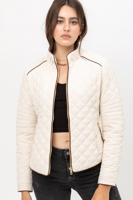 Sawyer Quilted Jacket in Ivory