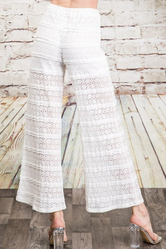 The Tori Beach Pants in White