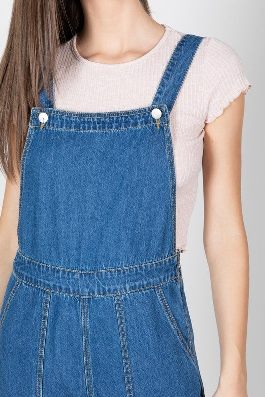 Not Over You Denim Jumpsuit