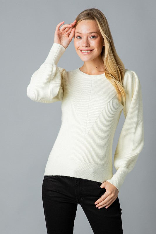 The Margot Sweater White