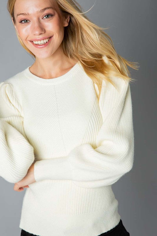 Margot Sweater in Ivory