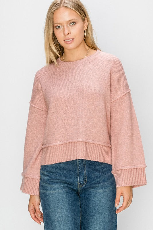Warm You Up Sweater Dusty Pink