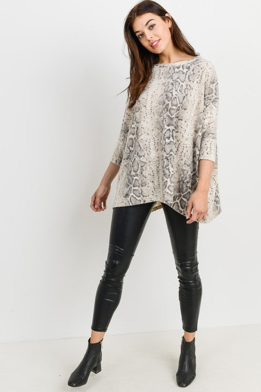 Snake It Easy Snakeskin Top