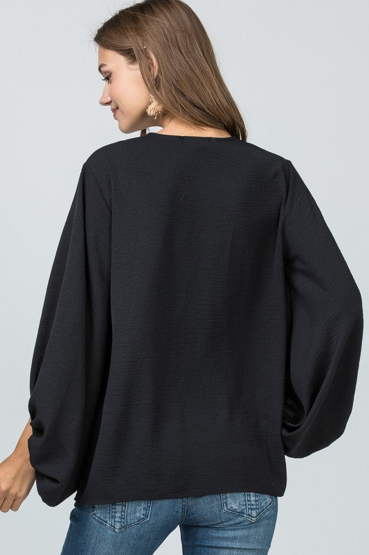 Get To Work Blouse Black
