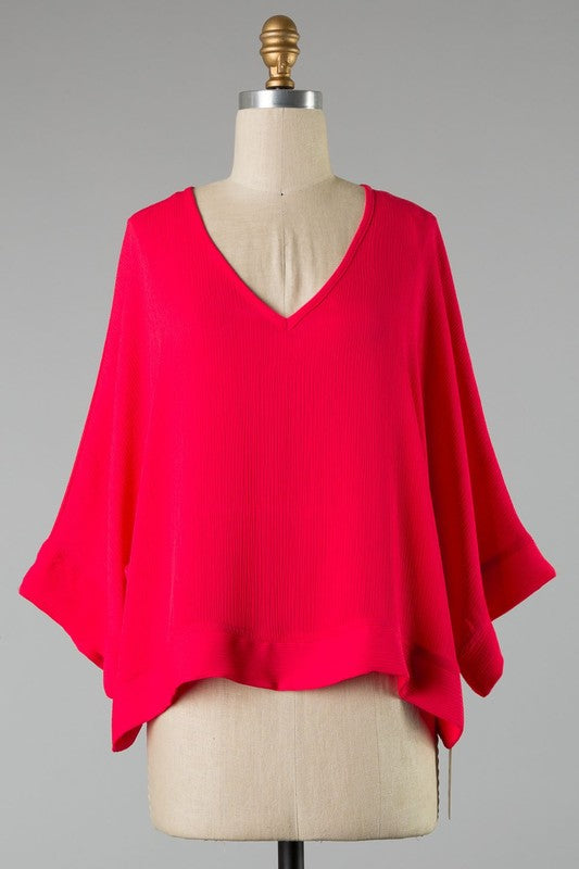 Make It Happen Blouse in Red