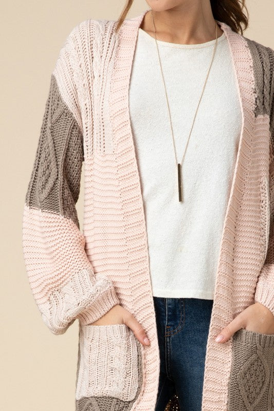 Clea Cable Knit Cardigan