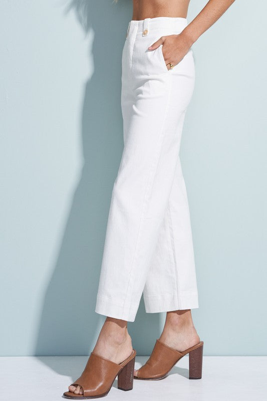 Megan Wide Leg Pants in White