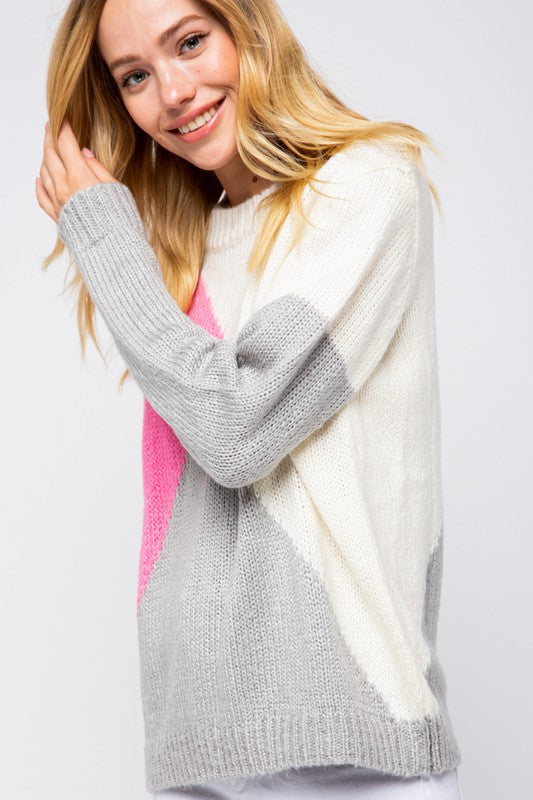 Stay Inside the Lines Colorblock Sweater