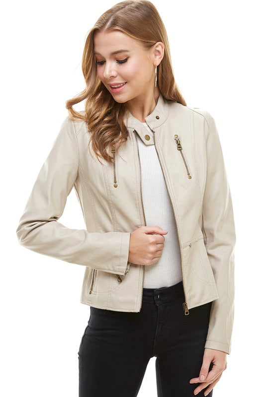 The Colette Faux Leather Jacket