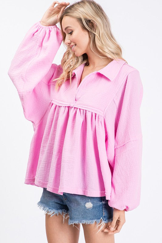 The Skylar Top in Pink