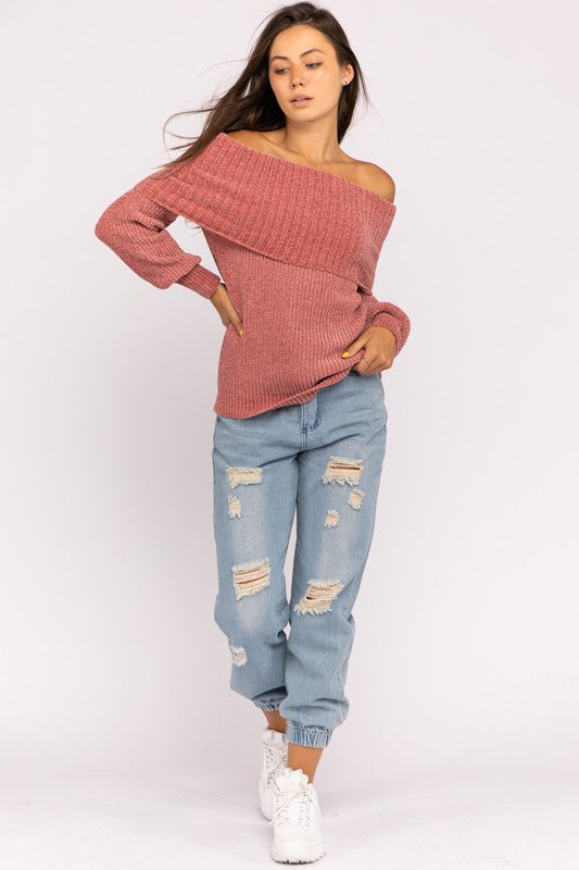 Mauve About You Sweater