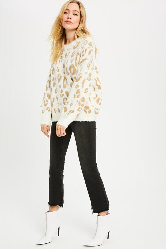 Leopardess Cream Sweater