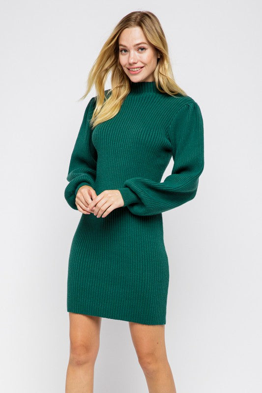 The Perfect Sweater Dress in Green