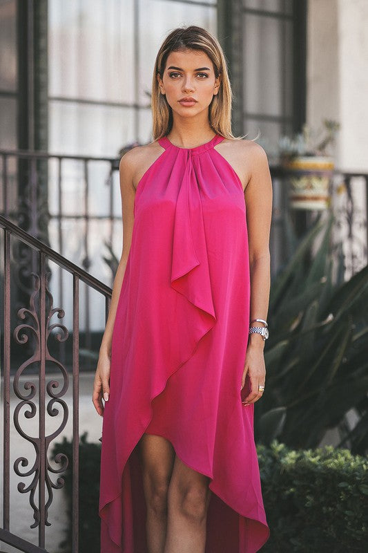 The Rebecca Dress in Magenta