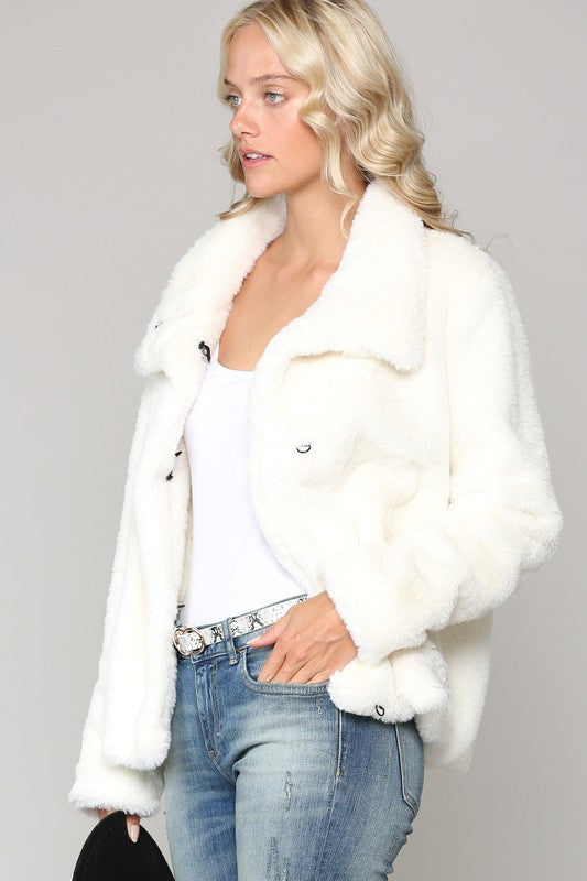 Snow Queen Faux Fur Coat