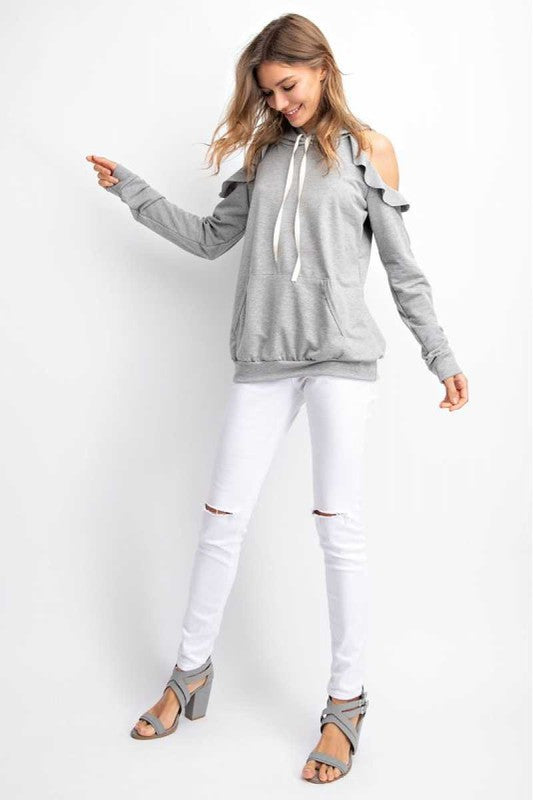 French Terry Sweatshirt Heather Grey
