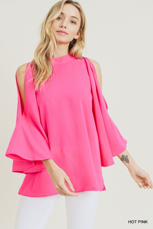 The Camila Blouse Hot Pink