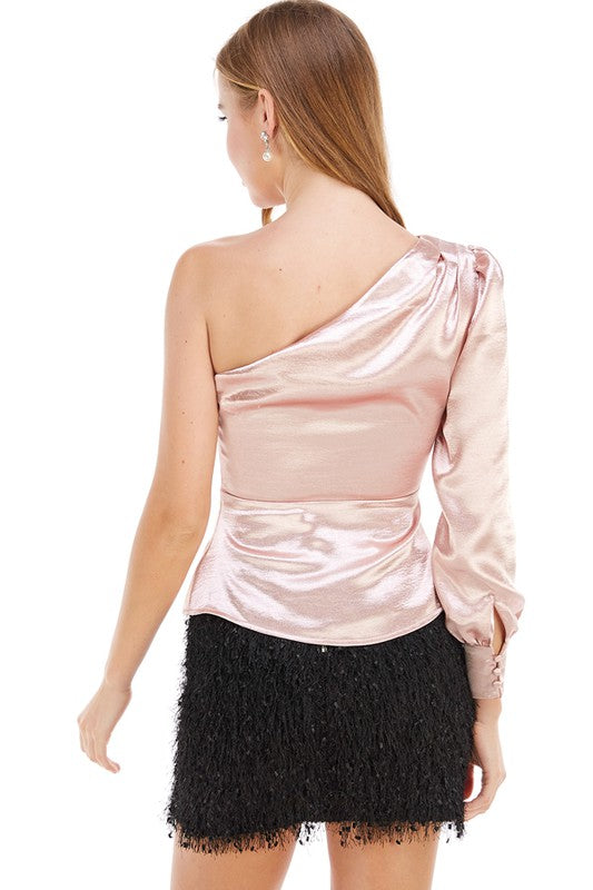 Love or Lust One Shoulder Satin Top