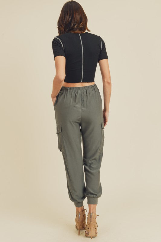 Online Jogging Pants in Charcoal