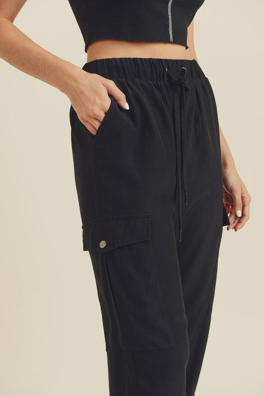 Online Jogging Pants in Black
