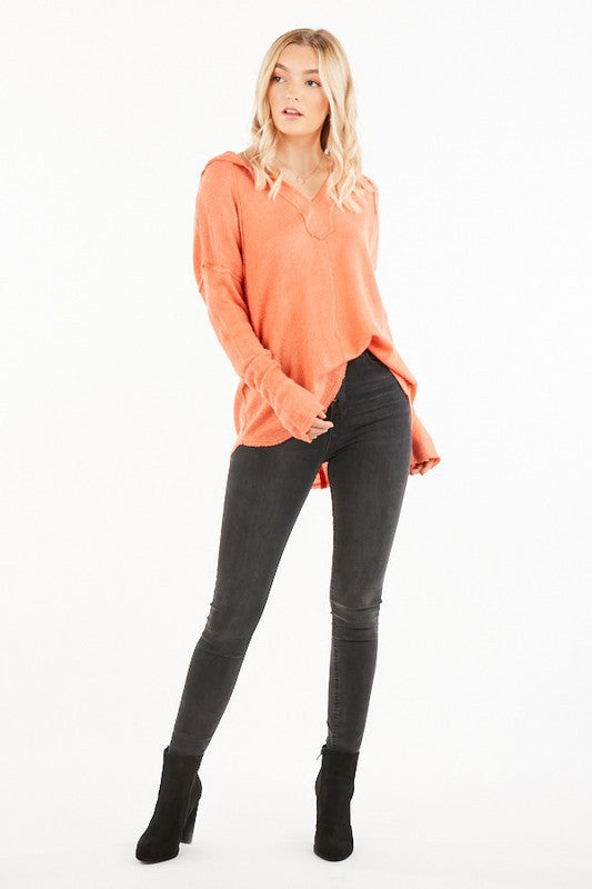 The Haven Hoodie in Coral