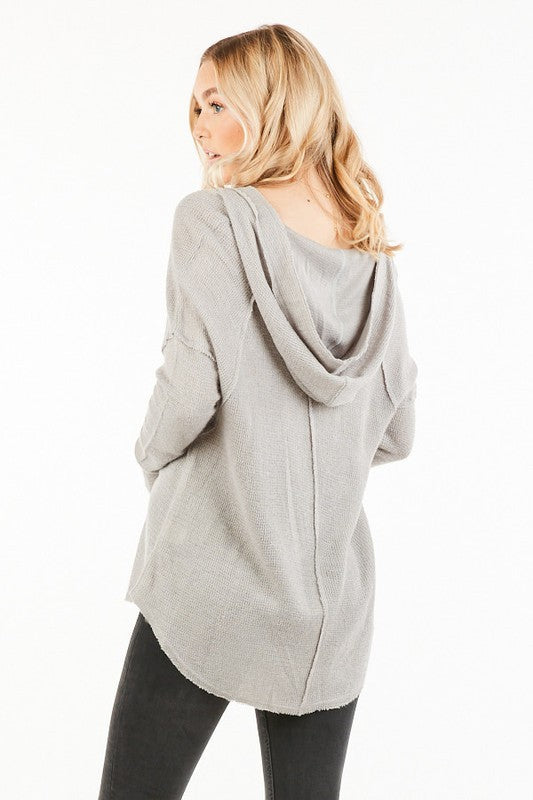 The Haven Hoodie in Heather Grey