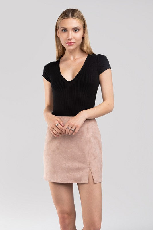Molly Suede Skirt Dusty Rose