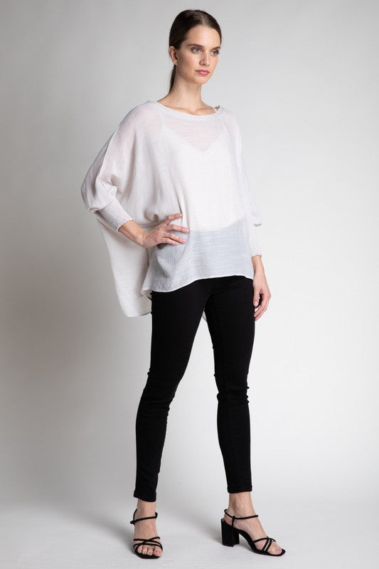 The Camille Blouse in Powder