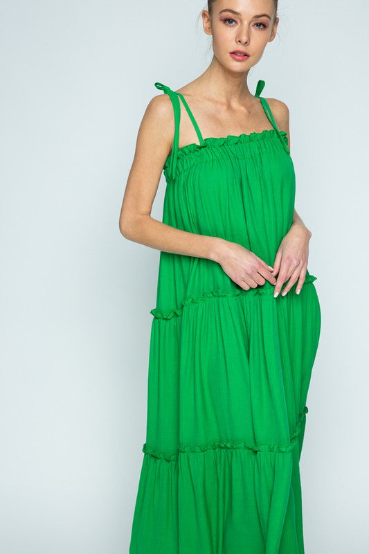 The Elizabeth Maxi Dress in Green